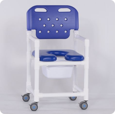 Economy Shower Chair Commode w/New Backrest