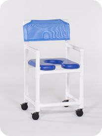 Open Front Soft Seat Shower Chair