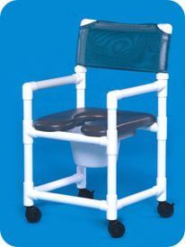 Open Front Soft Seat Shower Chair Commode